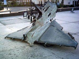 حطام طائرة إيه-4 سكاي هوك إسرائيلية أسقطتها القوات المصرية في حرب 1973.