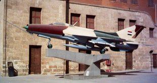 طائرة ميج-21 شاركت في حرب 1973 في ساحة العرض المكشوف بالمتحف الحربي المصري.