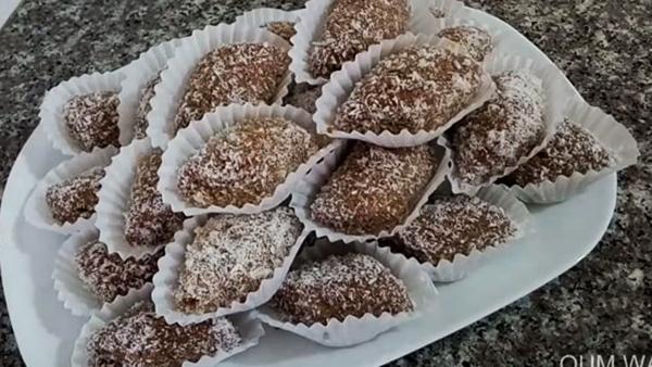 حلوى جوز الهند والكاكاو | مقروطات أم وليد