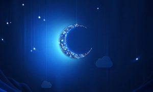تصميمات عن هلال شهر رمضان