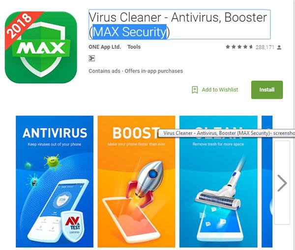 تطبيق منظف الفيروسات | مضاد الفيروسات MAX Security