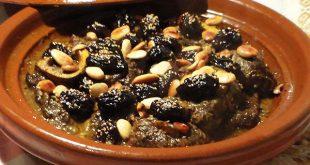طاجين مغربي باللحم والبرقوق | اللحم بالبرقوق على الطريقة المغربية