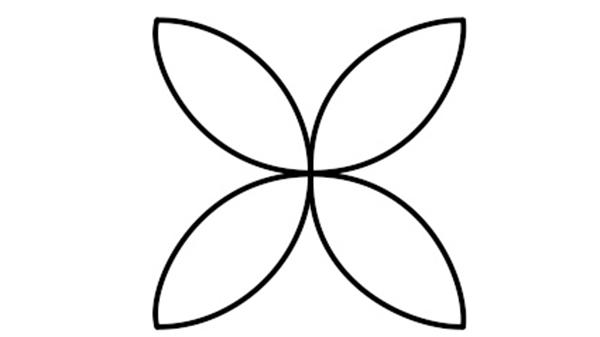 رسم زخرفة دائرية بسيطة