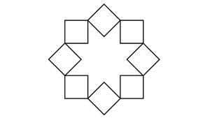 تحديد المربعات الناتجة عن التقاء الخطوط