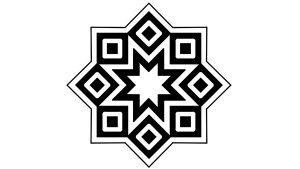 النجمة الثمانية بتكوين المربعات