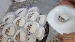 حلوة القلوب البيضاء بذوق الشوكولا و الكرامال